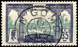 """GABON - 1911 CàD """" N'GOMO / GABON """" On Yv.41 35c Violet & Vert - TB & Rare - Gebruikt"""