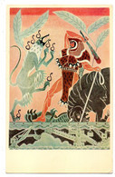 CHATENAY MALABRY --Ecole Centrale--Fresques Par  LEPRINCE RINGUET--HERAKLES -- HERCULE..couleur - Chatenay Malabry