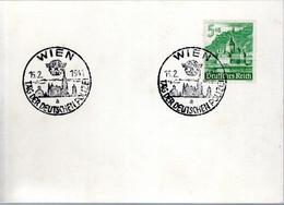 CARTE BLANCHE 1941 - OBLIT. TEMPORAIRE - JOURNEE DE LA POLICE ALLEMANDE - - Covers & Documents