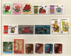 Neuseeland 1976 Siehe Bild/Beschreibung 16 Marken Gestempelt; New Zealand Used - Gebraucht