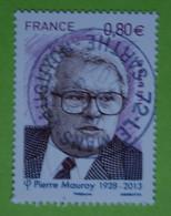 FRANCE 2016  YT N° 5073  PIERRE  MAUROY ( 1928-2013)    Timbre Neuf   BEAU  CACHET   ROND - Gebruikt