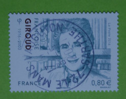 FRANCE 2016  YT N° 5079  FRANCOISE  GIROUD (1916-2003)   Timbre Neuf   BEAU  CACHET   ROND - Gebruikt