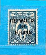 (Mn1) WALLIS Et FUTUNA *- 1922-25 - Timbre De Nouvelle Calédonie, Surchargé.  Yvert. 18.  MH * - Unused Stamps
