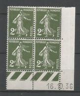 Coins Daté France Neuf *  N 278  Année 1936 Charniére En Haut - 1930-1939