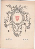 ANVERS DINER OFFERT EXPO 1930 SEMAINE FRANCAISE - Menükarten