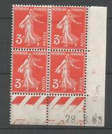 Coins Daté France Neuf *  N 278a  Année 1933  Charniére En Haut - 1930-1939