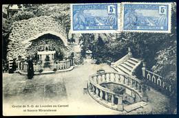 Cpa Du 85 Chavagne Grotte De N.D. De Lourdes Au Carmel Et Source Miraculeuse -- Timbres Guadeloupe    AVR21-23 - Sonstige Gemeinden