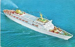 Paquebot S/S Oceanic - Home Lines ( Envoyé Des Bahamas) - Steamers