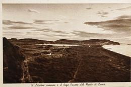 Cartolina - Il Litorale Cumano E Il Lago Fusara Dal Monte Di Cuma - 1930 Ca. - Napoli