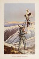 Cartolina Militare - Sentinella Avanzata Sullo Stelvio - 1930 Ca. - Otros