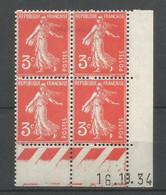 Coins Daté France Neuf *  N 278a  Année 1934  Charniére En Haut - 1930-1939