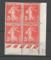 Coins Daté France Neuf *  N 278a  Année 1935  Charniére En Haut - 1930-1939