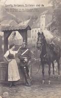 AK Lustig, Ihr Leute, Soldaten Sind Da - Deutscher Soldat Mit Frau Und Pferd - Patriotika - 1918 (56565) - Guerra 1914-18