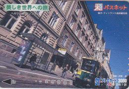Carte Prépayée JAPON Série Site Mtro 2 - TRAMWAY En FINLANDE - TRAM In FINLAND - STRASSENBAHN - Japan Prepaid Card - Trains