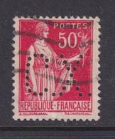 Perforé/perfin/lochung France No 283 C.X. Sté Des Mines De Carmaux Houillières D'Aquitaine (381) - Gezähnt (Perforiert/Gezähnt)