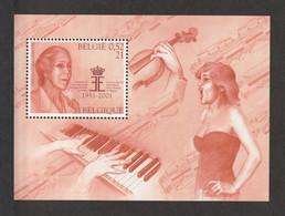 BELGIUM 2001 Queen Elisabeth International Music Competition: Miniature Sheet UM/MNH - Blocs 1962-....