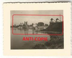WW2  PHOTO ORIGINALE ALLEMANDE Pont Suspendu Ko MEUNG SUR LOIRE ONZAIN Près Beaugency Orléans LOIRET 45 N°1 - 1939-45