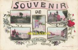 Souvenir De HERCHIES - Carte Colorée En 5 Vues - Jurbise