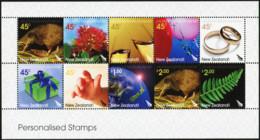 NEW ZEALAND 2005 Greetings Personalised Stamps Kiwi Bird Birds Animals Fauna MNH - Kiwi