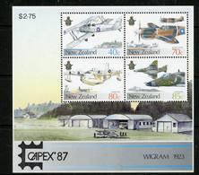 """-New Zealand-1987-""""CAPEX Overprinted Souvenir Sheet"""" MNH ** - Ungebraucht"""