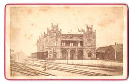 Fotografie Heinrich Habenicht, Minden, Ansicht Minden, Blick Von Den Gleisen Zum Bahnhof - Bahnsteig - Plaatsen