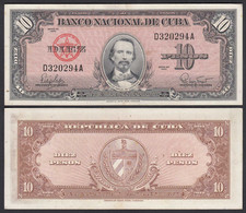 Kuba - Cuba 10 Peso 1960 Pick 79b VF/XF (2/3)    (25739 - Other - America