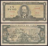 Kuba - Cuba 1 Peso Banknote 1972 Pick 102a F (4)  (25750 - Other - America