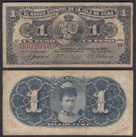 Kuba - Cuba 1 Peso 1896 Pick 47a F (4)    (25745 - Other - America