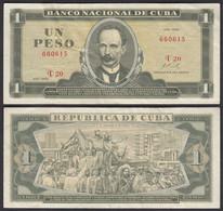 Kuba - Cuba 1 Peso Banknote 1968 Pick 102a VF- (3-)  (25755 - Other - America