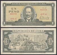 Kuba - Cuba 1 Peso Banknote 1985 Pick 102b VF (3)  (25753 - Other - America