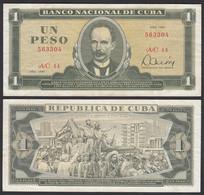 Kuba - Cuba 1 Peso Banknote 1981 Pick 102b VF (3)  (25752 - Other - America