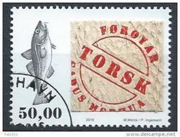 Iles Féroé 2016 N°873 Oblitéré Poisson Morue - Faroe Islands