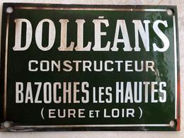 Plaque DOLLEANS Constructeur - Plaques émaillées (après 1960)