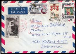 Tchécoslovaquie - 1985 - Lettre - Par Avion - Envoyé En Argentina - A1RR2 - Brieven En Documenten