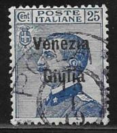 Italy Occupation Austria Scott # N25 Used Italy Stamp Overprinted, 1918 - Austrian Occupation
