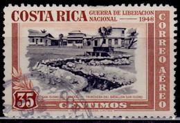 Costa Rica 1950, Trenches Of San Isidro, Battalion, 35c, Scott# C192, Used - Costa Rica