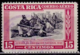 Costa Rica 1950, Airmail, Battle Of El Tejar, Cartago, 15c Sc#C189, Used - Costa Rica