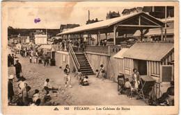 5THP 526 CPA - FECAMP - LES CABINES DE BAINS - Fécamp