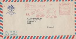 ESPAGNE BELLE EMA SUR LETTRE POUR LA FRANCE 1958 - Machine Stamps (ATM)