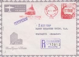 ESPAGNE EMA SUR LETTRE POUR LA FRANCE 1958 - Marcofilia - EMA ( Maquina De Huellas A Franquear)