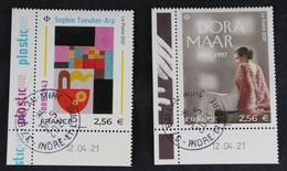 France 2021 Dora Maar Et Sophie Taeuber-Arp --Oblitérés - Used Stamps