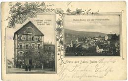 CPA Allemagne Gruss Aus Baden-Baden Gathaus Gruner Hof - Baden-Baden