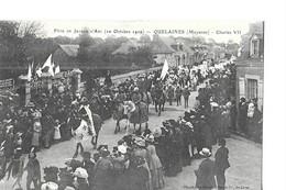 QUELAINES    FETES DE JEANNE D ARC    10 OCTOBRE 1909     CHARLES 7   FOULE DEFILE     DEPT 53 - Altri Comuni
