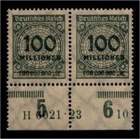 DEUTSCHES REICH 1923 Nr 322 Mit Hausauftragsnummer (94689) - Unclassified