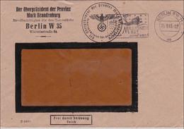 Oberpräsident Mark Brandenburg, Nahverkehr Berlin 1943: Werbestempel Millionen BRT Sind Weg! - Schiff Untergang - Non Classificati