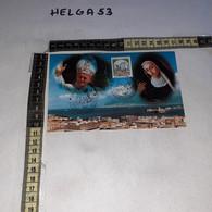 FB9197 MESSINA 1988 TIMBRO ANNULLO SANTIFICAZIONE BEATA EUSTOCHIA VISITA DI PAPA GIOVANNI PAOLO II - 1981-90: Storia Postale