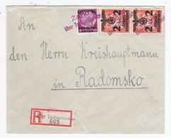 Generalgouvernement R-Brief Mit MIF  AKs Zarki An Den Kreishauptmann In Radomsko - Besetzungen 1938-45