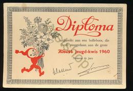 Reclamekaart - Diploma - Knorr Jeugd-kwis 1960 [Z20-0.306 - Advertising