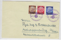 Generalgouvernement Brief Mit MIF SST Sandomir Nach Aschaffenburg - Besetzungen 1938-45