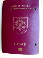 Biometric Passport Lithuania 2014 Boy Cancels Belarus Turkey Expired With Holes - Documentos Históricos